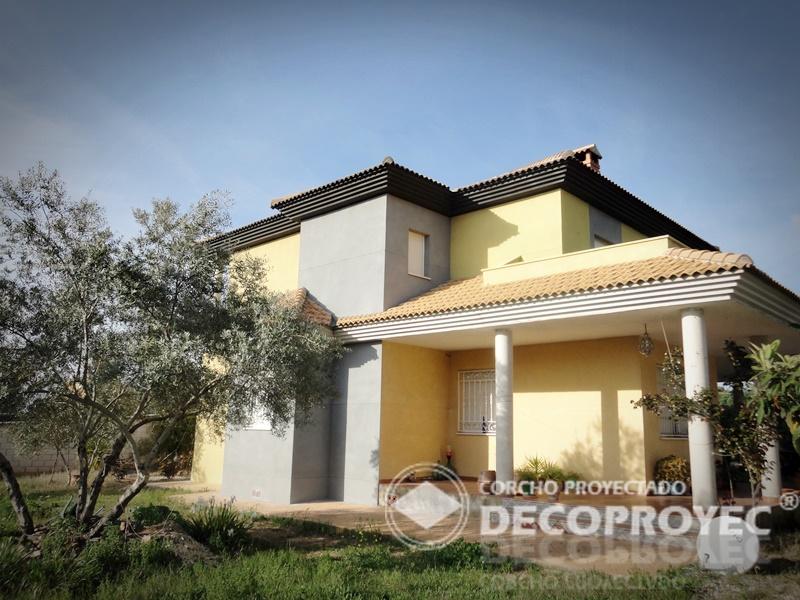 Fachada y terraza vivienda unifamiliar corcho proyectado for Viviendas para terrazas