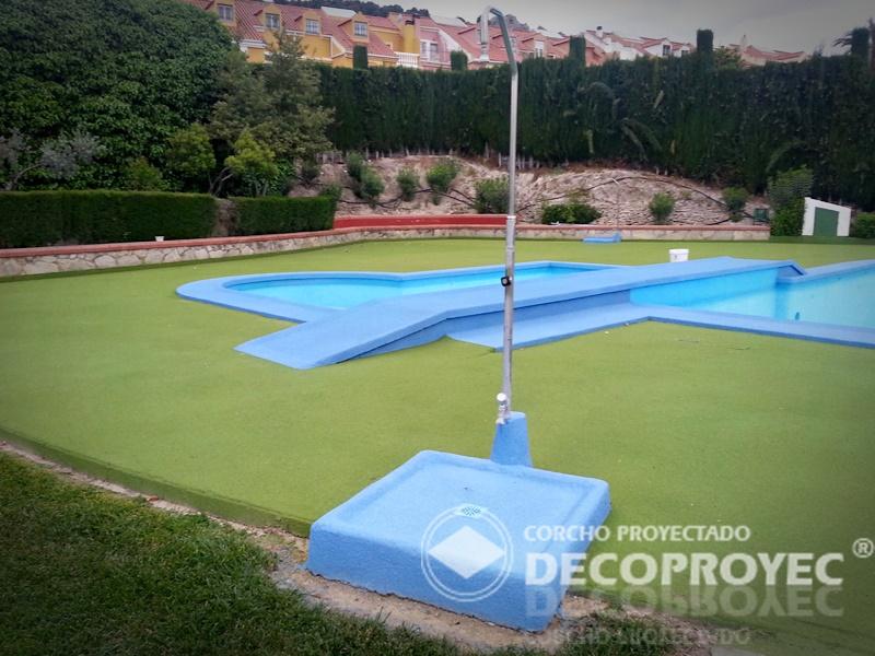 Reparaci n de pavimento perimetral piscina corcho - Pavimento de corcho ...